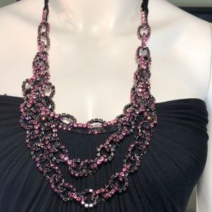EUC - Like new Sky mini pink linked rhinestones.
